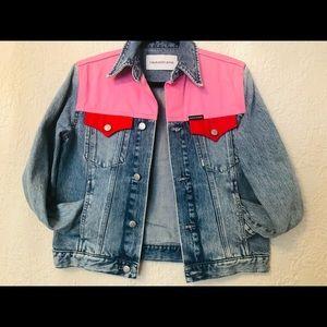 Nwot Calvin Klein women's jean jacket size xs